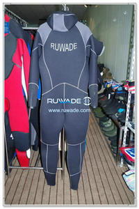 Front zip neoprene windsurfing suit with hood -003-2