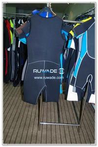Shoulder opening neoprene short john wetsuit -004