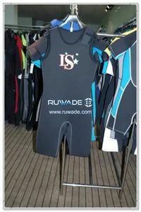 Shoulder opening neoprene short john wetsuit -004-2