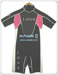 Shorty surfing wetsuit with back zipper -002