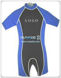 Shorty windsurfing wetsuit with back zipper -003