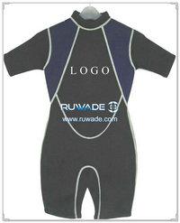 Back zipper shorty wetsuit -005