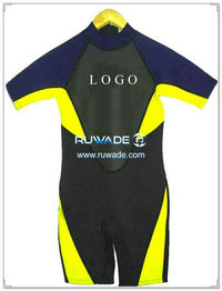 Back zipper shorty surfing wetsuit -009