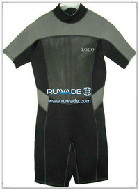 Shorty windsurfing wetsuit with back zipper -014