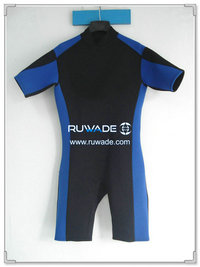 Back zipper shorty surfing wetsuit -020