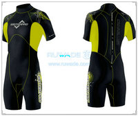Back zipper shorty surfing wetsuit -021