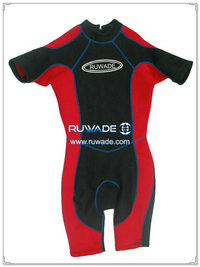 Back zipper shorty surfing wetsuit -026