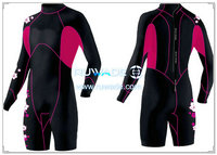 Women shorty windsurfing wetsuit with back zipper -029