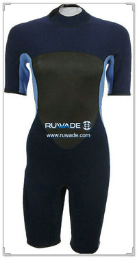 Women back zipper shorty surfing wetsuit -030