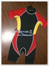 Women shorty surfing wetsuit with back zipper -037