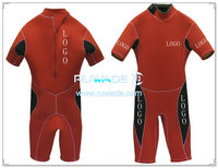 Back zipper shorty surfing wetsuit -038