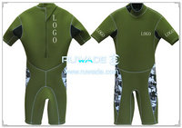 Shorty windsurfing wetsuit with back zipper -046