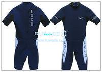 Back zipper shorty surfing wetsuit -047
