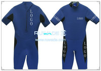 Shorty surfing wetsuit with back zipper -048