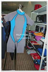 Back zipper shorty windsurfing wetsuit -049