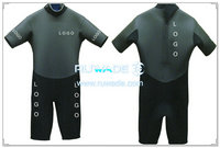 Shorty wetsuit with back zipper -053