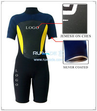 Back zipper shorty windsurfing wetsuit -055
