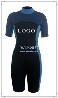 Women shorty surfing wetsuit with back zipper -056