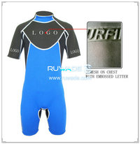 Back zipper shorty windsurfing wetsuit -057