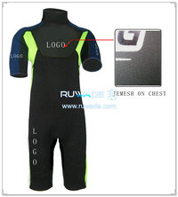 Back zipper shorty windsurfing wetsuit -059