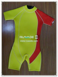 Back zipper shorty surfing wetsuit -064