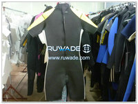 Back zipper shorty surfing wetsuit -067