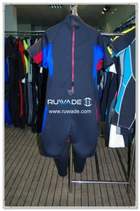 Back zipper shorty surfing wetsuit -074