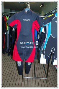 Shorty windsurfing wetsuit with back zipper -075