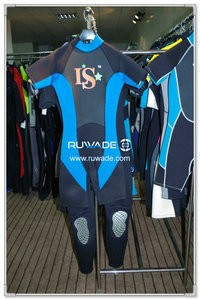 Back zipper shorty surfing wetsuit -077