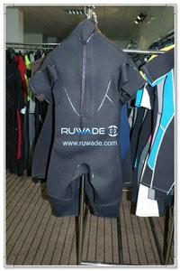 Back zipper shorty wetsuit -081