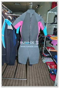 Women shorty windsurfing wetsuit with back zipper -090