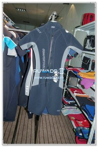 Women back zipper shorty surfing wetsuit -093