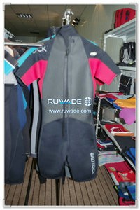 Men back zipper shorty windsurfing wetsuit -095
