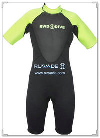 Shorty surfing wetsuit with back zipper -097-14