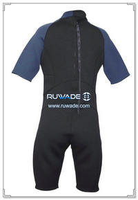 Shorty surfing wetsuit with back zipper -097-16
