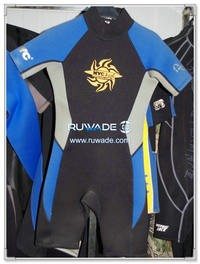 Short sleeve shorty wetsuits with back zipper -100