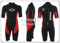 Shorty surfing wetsuit with back zipper -118-3