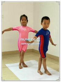 Shorty surfing wetsuit with back zipper -119-3