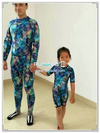 Shorty surfing wetsuit with back zipper -119-6