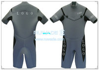 Shorty surfing wetsuit with chest zipper -001