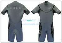 Коротышка Серфинг гидрокостюм с молнией груди -001