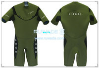 Chest zipper shorty surfing wetsuit -002