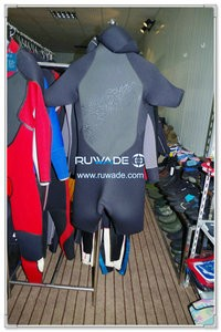 Hooded front zipper shorty windsurfing wetsuit -002