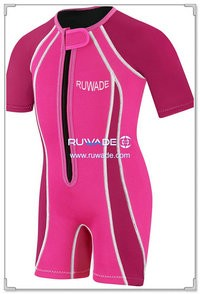 Women shorty surfing wetsuit with front zipper -001