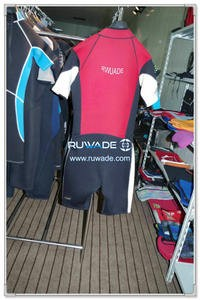 Windsurf Shorty traje de neopreno con cremallera frontal -004