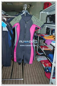 Women shorty wetsuit with front zipper -005