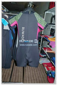 Women shorty wetsuit with front zipper -005-2
